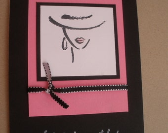 Handmade You're just my style card with face