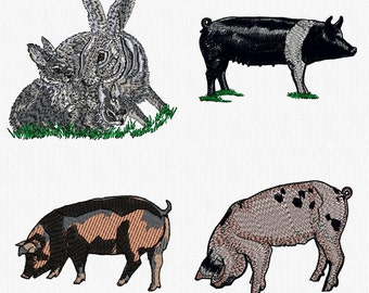 Farm Animals 1 Machine Embroidery Designs