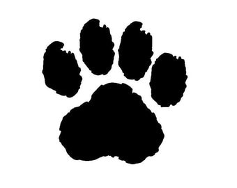 """Paint Cat Paw 3"""" Decal"""