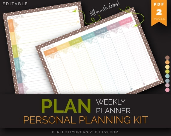 Diy Calendar Binding : Weekly planner to do list schedule by