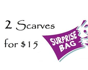 Surprise Bag TWO regular scarves