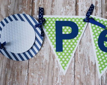 Golf Birthday Party Name Banner, Golf Party Banner, Golf Shower Banner, Golf birthday party
