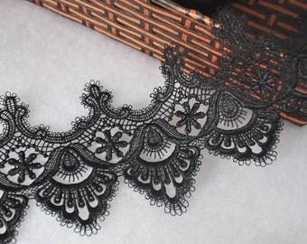 Lace Trim Lace Fabric Black Eyelash Wedding Fabric DIY Handmade 4.72'' width 2 yard