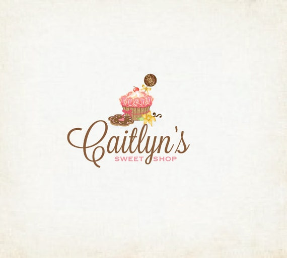 Items Similar To Sweet Shop Logo Cupcakes Bakery Cake