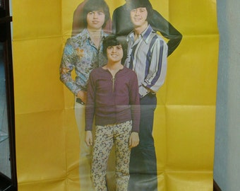 Vintage Osmond Brothers poster from the 70's. Large poster of young Donnie Osmond & his brothers.