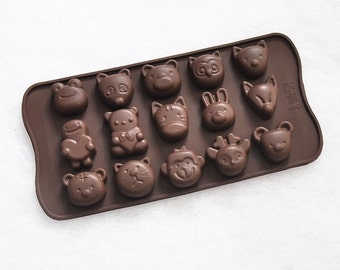 15-cavity Animal Cake Mold Mould Silicone Mold Biscuit Mold Chocolate Mold Soap Mold