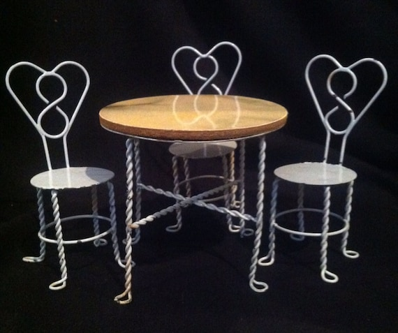 Ice Cream Parlor Set Miniature Furniture Marked Down