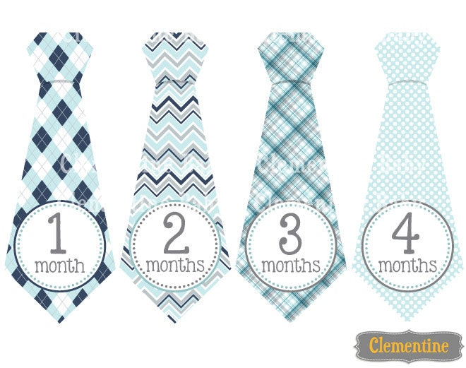 Monthly Baby Stickers Boy Baby Month Stickers Tie Monthly