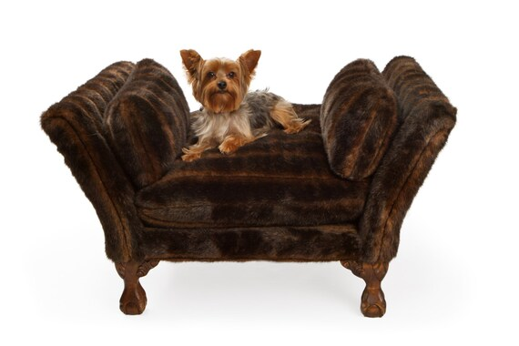 Brown dog bed small dog bed luxury pet bed pet bed dog - Designer pet beds small dogs ...