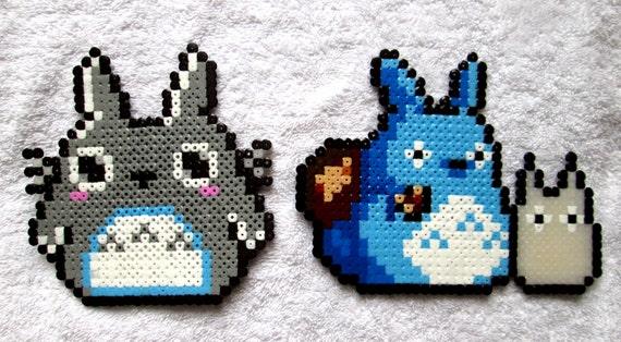 2 Totoro perler bead sprites
