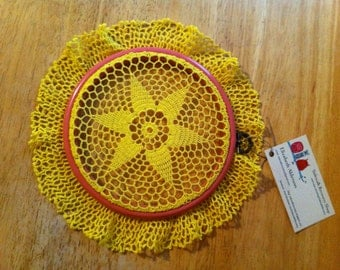 Doily Embroidery Hoop