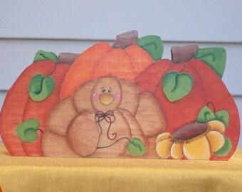 Turkey with Pumpkins