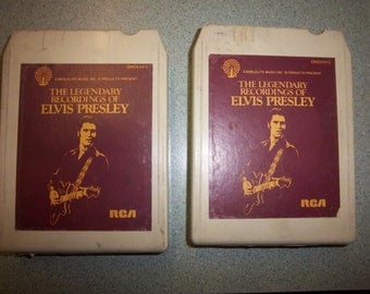 FREE Shipping ELVIS Presley 8 track stereo legendary recordings 2 tape set 1979 RCA dms3-0421 P1 & P2 vintage music