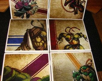 Teenage Mutant Ninja Turtles Coasters (set of 4 or 6)