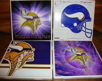 Minnesota Vikings Coasters (set of 4)