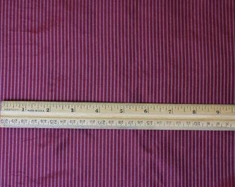 "Red/Silver Tissue Taffeta Stripes 100% Silk Fabric, 44"" Wide, By The Yard (SD-689)"