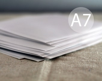 "25 5x7 Translucent / Vellum Envelopes - White - A7 size (5 1/4"" x 7 1/4"") - Wedding Envelopes - Quantity 25"