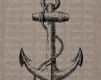 Anchor Digital Image Download Collage Sheet Transfer To Pillows Tote Tea Towels Burlap