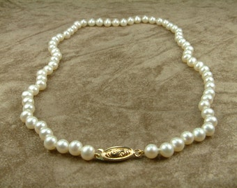 White Pearl Necklace 6 - 6.5 mm (Κολιέ με Λευκά Μαργαριτάρια 6 - 6.5 mm)