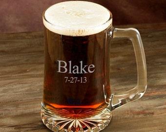 Engraved Beer Mug - Personalized 25 oz. Beer Mug - Groomsmen Beer mug - Monogrammed Beer Mug - Groomsmen Gifts - Gifts for Him - GC117