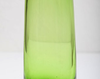 Lovely Green blown glass vase from the 1960's.