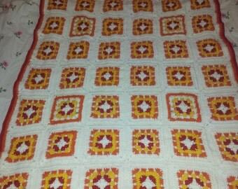Afghan - Granny Square - Baby-/Childrenblanket - crochet - handmade - 10041