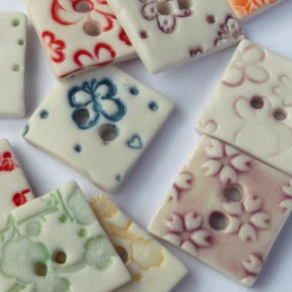 Decorative buttons square button ceramic buttons for Decorative buttons for crafts