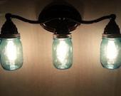 Vintage Mason Jar wall sconce or vanity light