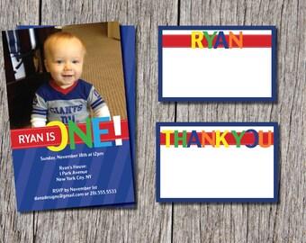 Baby Boy Birthday Invitations