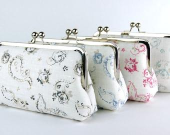 Bridesmaid Clutch, English Garden collection, Silk Lining, Bridesmaid Gift, Wedding clutch