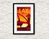 LAX Los Angeles International Airport California Print 17x27