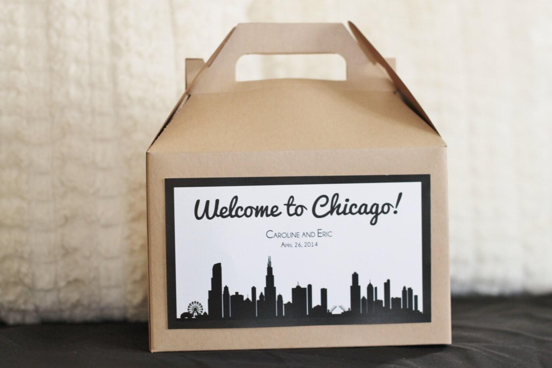 Set 10 Wedding Welcome Box Gable Box With Custom Chicago