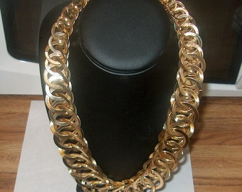 Vintage Costume Jewelry Goldtone Necklace, Was 50.00 - 50% = 25.00