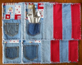 Two in One Recycled Denim Placemats