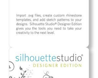 Silhouette America CAMEO Studio Designer Edition License Key Card