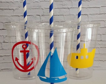 12 oz. Nautical Party Cups Set of 12