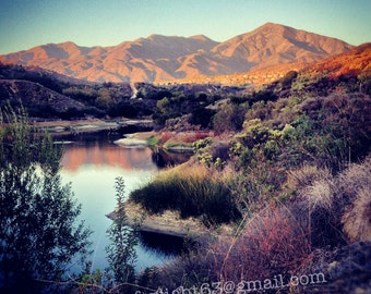 Saddleback Mountain Art | Sunset Landscape Photo | Orange County Nature | Trabuco Canyon Art | California Art | Digital Download | JPEG file
