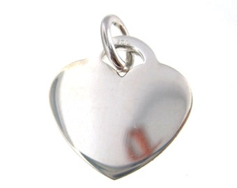 Thick Heart Charm Large - Sterling .925 Charm Lowest Price