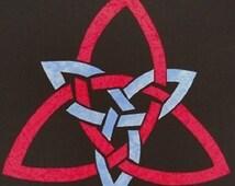 Easy Celtic Triquetra Knot Quilt Applique Pattern Design