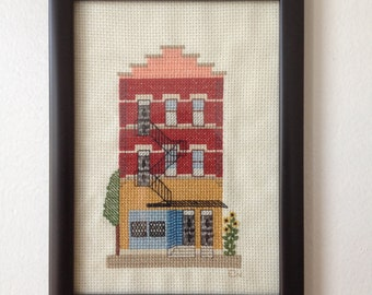 Chicago Converted Storefront Cross Stitch