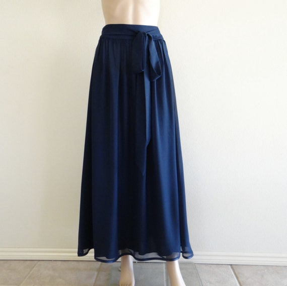 Blue Long Skirt. Maxi Skirt