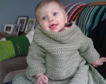 Crochet Snuggle Up with Sleeves for Babies, Children and Adults - Car Seat / Stroller Blanket / Snuggle