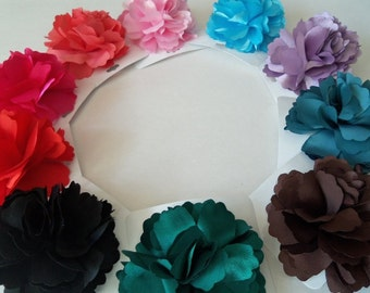 Beautiful Satin Hair Flower Clip and Pin Back, Hair Accessories, Hair Flower clip, Girls Hair Flower, Flower Pin, girls, Hair Flower, Easter