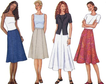 Butterick 3134 Fast & Easy Sewing Pattern Misses Skirt Size 8-10-12