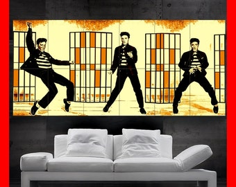 Elvis Presley THE King jailhouse rock Colorful  Poster print art  HH10504 S38