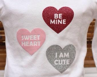 Conversation Hearts Valentine's Day long sleeve shirt