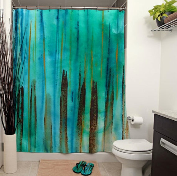 Beach Fence Printed Shower Curtain By JanetAnteparaDesigns