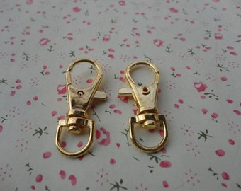 50pcs 39x14mm gold metal key clasps keychain clasp findings connector