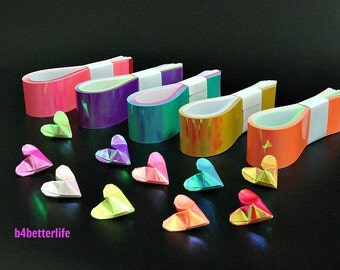 "250 Strips of diy Paper Kit For 3D Origami Hearts ""LOVE"" Available In 10 Different Colors. ( AV Paper Series). #HPK-02."