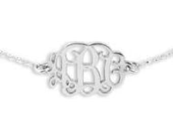 Sterling Silver Monogrammed Bracelet